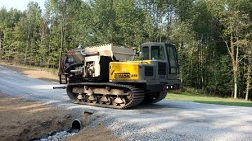 Crawler Carrier with Bark Blower for Pipeline