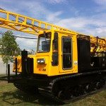 Diedrich D120 Drill Rig on Morooka Rubber Track Crawler Carrier