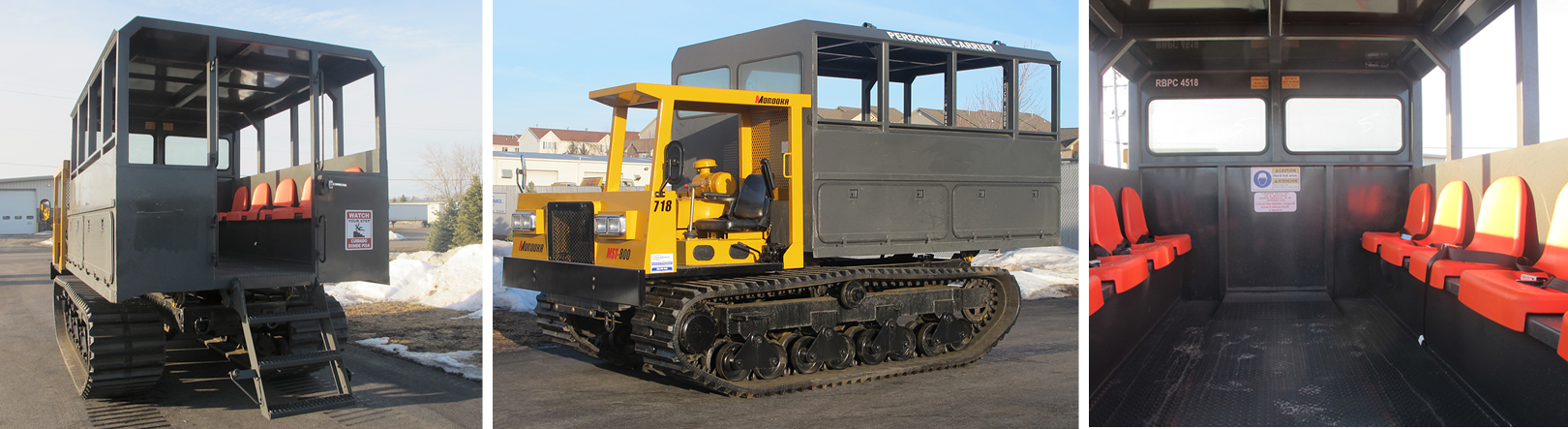 Multiple Views of Our Rental Tracked Personnel Carriers