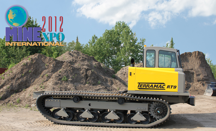 Rig Source Inc at Minexpo with Terramac RT9 Crawler Carrier