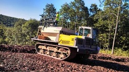 Rubber Tracked Hydroseeder for Pipeline Project