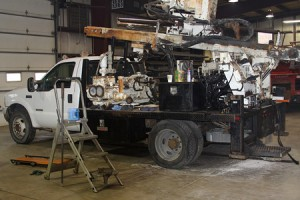 imco Drill Rig Before Repairs
