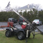 back country badger auger drill rig