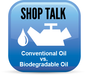 conventional oil vs. biodegradable oil