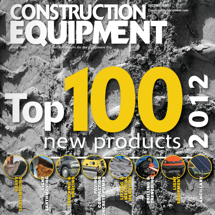 Construction Equipment Top 100 Cover Featuring Terramac RT9 Crawler Carrier