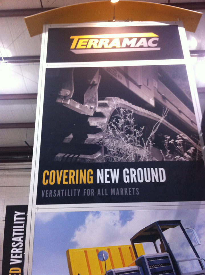 Terramac RT9 Crawler Carrier Booth Banner