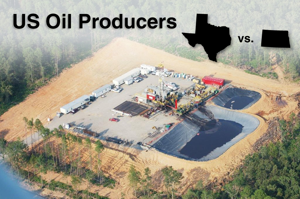 texas vs north dakota for oil production