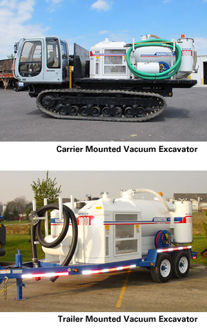 Truck and Track Mounted Vacuum Excavator Rental