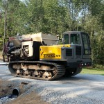Terramac® RT9 Crawler Carrier with Bark Blower