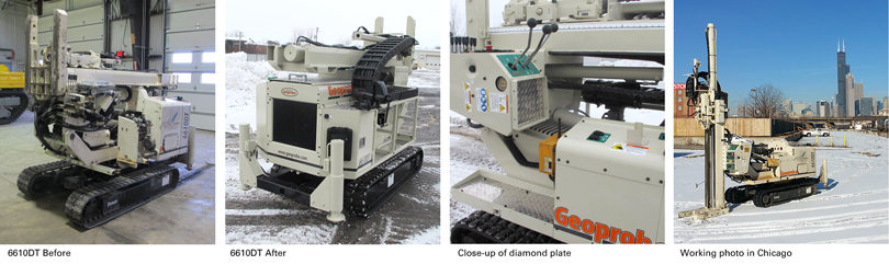 Before, After & Working Photographs of a Geoprobe® 6610