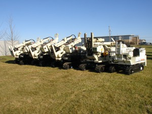 Lineup of Geoprobe 6610 Units & Many More Geoprobe Rentals