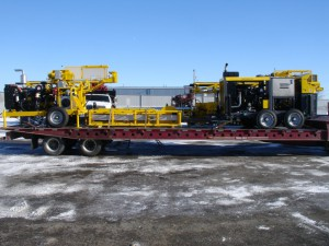 Atlas Copco Core Drills Loaded on Truck