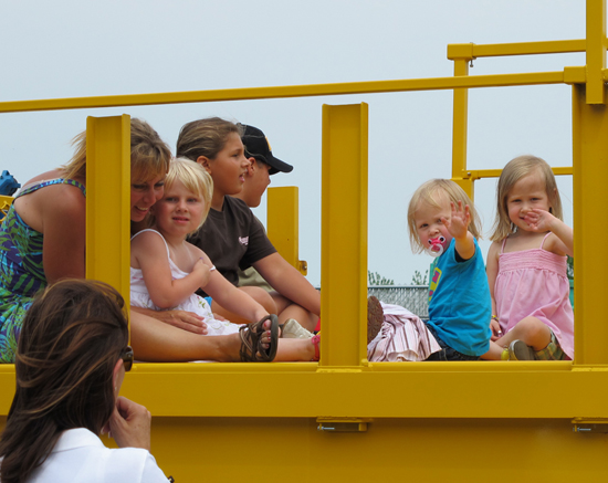 Kids On A Morooka Crawler Carrier Belonging to Rig Source