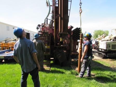 Schramm Rig Drilling Test Hole