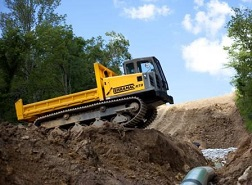 Terramac Crawler Carrier Working on Pipeline Project