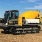 Terramac RT9 with Concrete Mixer