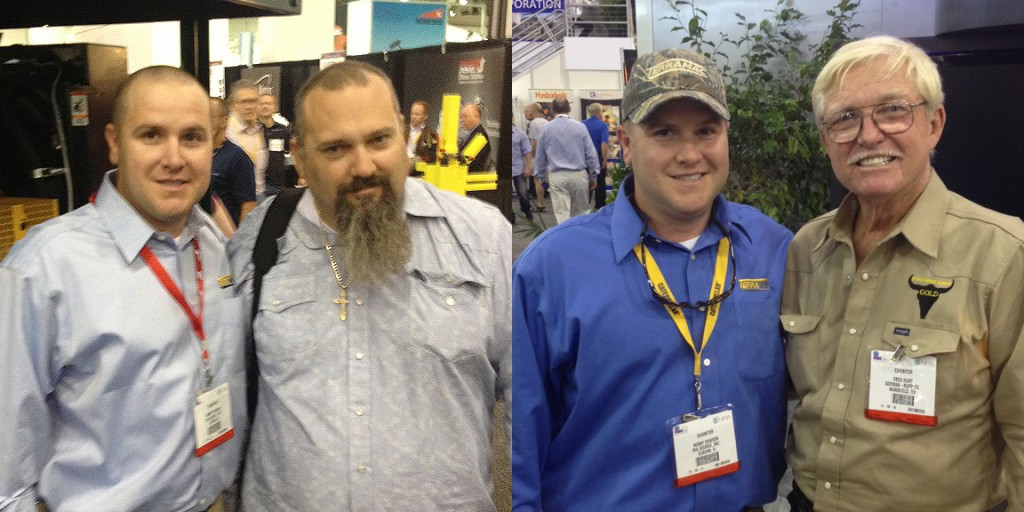 Terramac Sales Representative Bobby & Attendees at MineExpo