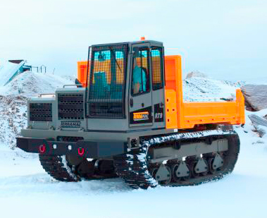 Rubber Tracked Rental Units in Snow