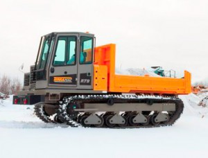 Terramac crawler carrier in snow