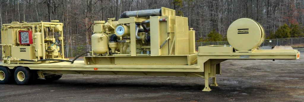 Side View of Zede Drillings Atlas Copco RD 20