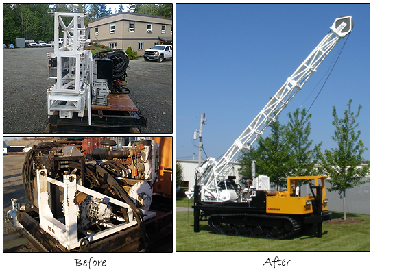 Before & After Shots of Custom Fabrication for Drilling Rigs