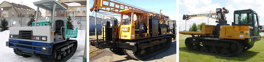 Morooka and IHI crawler carrier rental equipment