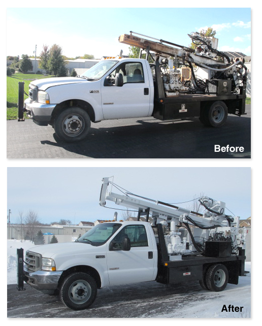 Simco 2800 Before and After Transformation
