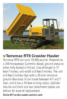 Terramac RT9 Crawler Carrier with Text Snippet from Article