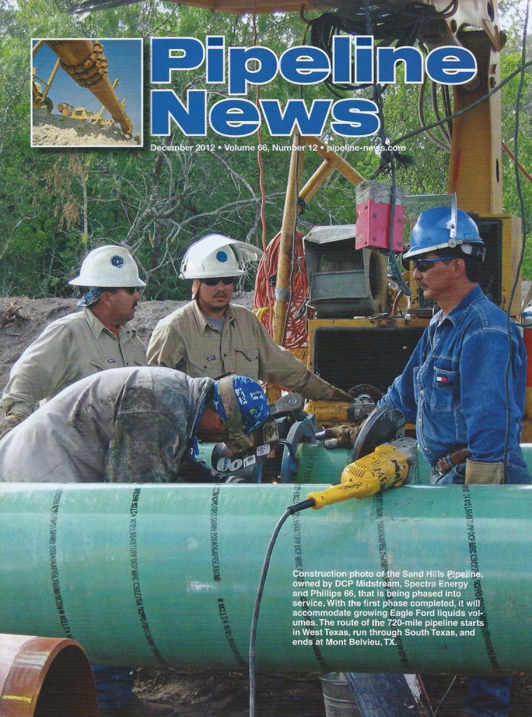 Pipeline News Cover Page Featuring Pipeline Equipment